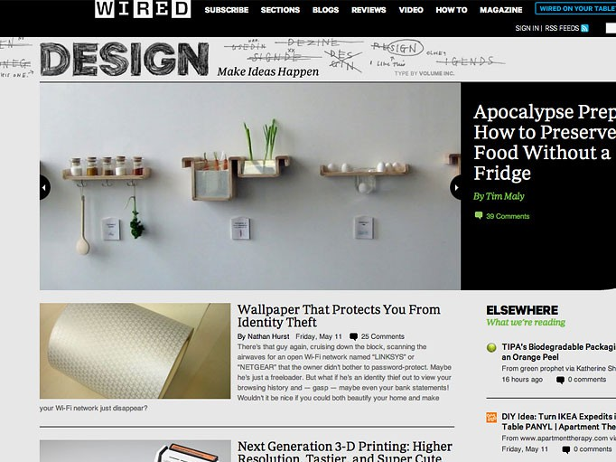 """Wired Design site launches, with some """"sketchy"""" help from"""